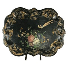 19th Century English Papier Mâché Serving Tray