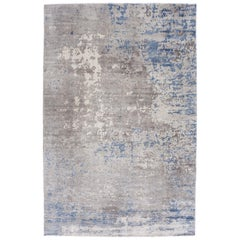 Abstract Rug in Grays and Blues