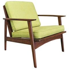 Mid-Century Modern 'Citron' Walnut Lounge Armchair