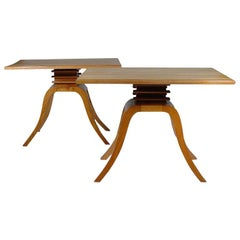 Paul Frankl Side Tables for Brown Saltman, Pair