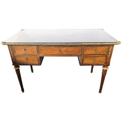 Maison Jansen Louis XVI Style Bronze Mounted Rosewood Writing Desk