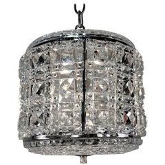 1930s Austrian Crystal Lantern-Chandelier