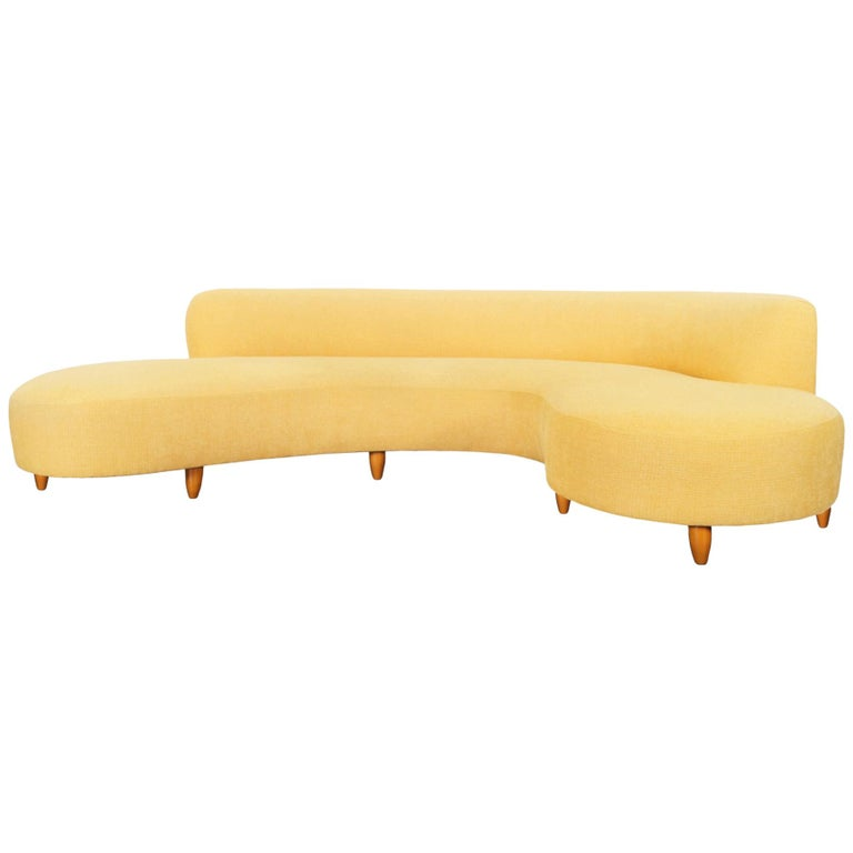 "Vintage ""Serpentine"" Sofa  For Sale"