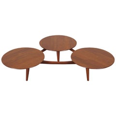 Vintage Solid Walnut Coffee Table Attributed to Greta Grossman