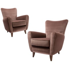 Pair of Midcentury Italian Armchairs by Pierluigi Colli