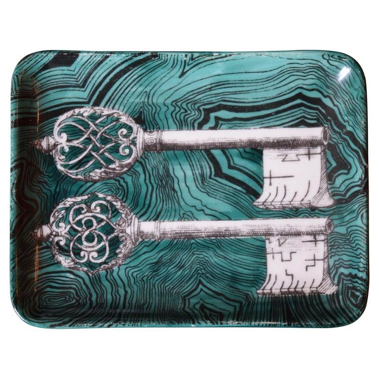 Fornasetti Skeleton Key Dish For Sale