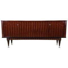 French Art Deco Macassar Ebony Sideboard Credenza by N.F. Ameublement, 1966