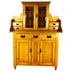 Antique Pine Sideboard, Farmhouse Sideboard, Kitchen Dresser, Scotland, 1880