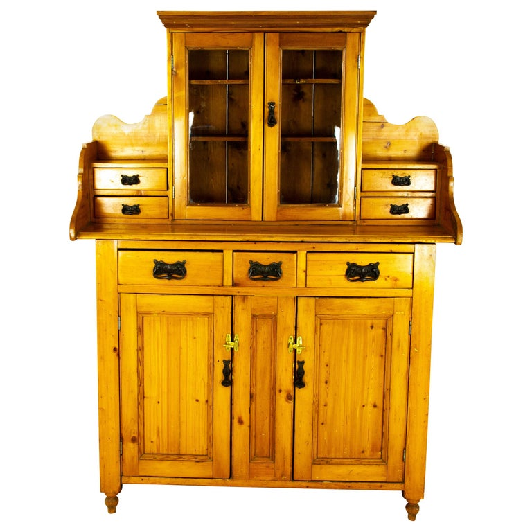 Antique Pine Sideboard, Farmhouse Sideboard, Kitchen Dresser, Scotland, 1880 For Sale