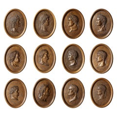 Portrait Medallions of the Twelve Caesars 'Set of Twelve'
