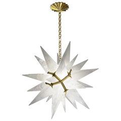 Deco Style Rock Crystal Chandelier by Phoenix