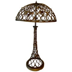 Open Work Lamp with Shell Motif