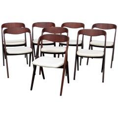 Set of 8 Mid-Century Modern Danish Dining Chairs