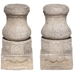 Pair of 19th Century Chinese Drum Form Column Bases