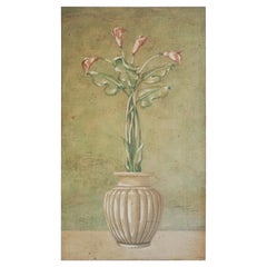 Calla Lillies Fresco Painting by Jacques Lamay