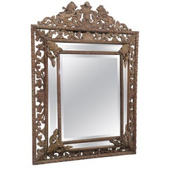 Carved Victorian Style Wall Mirror