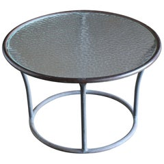 Bronze and Pebble Glass Side Table by Kipp Stewart for Terra, circa 1965