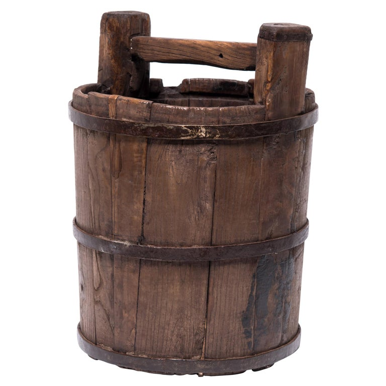 Early 20th Century Chinese Well Bucket For Sale