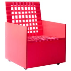 Pink Mary Heilmann Clubchair 86 by Mary Heillmann