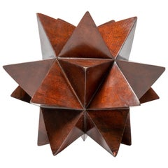 "Wood Geometric ""Star"" Form Sculpture"