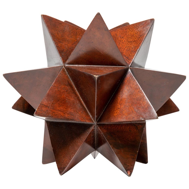 """Wood Geometric """"Star"""" Form Sculpture For Sale"""