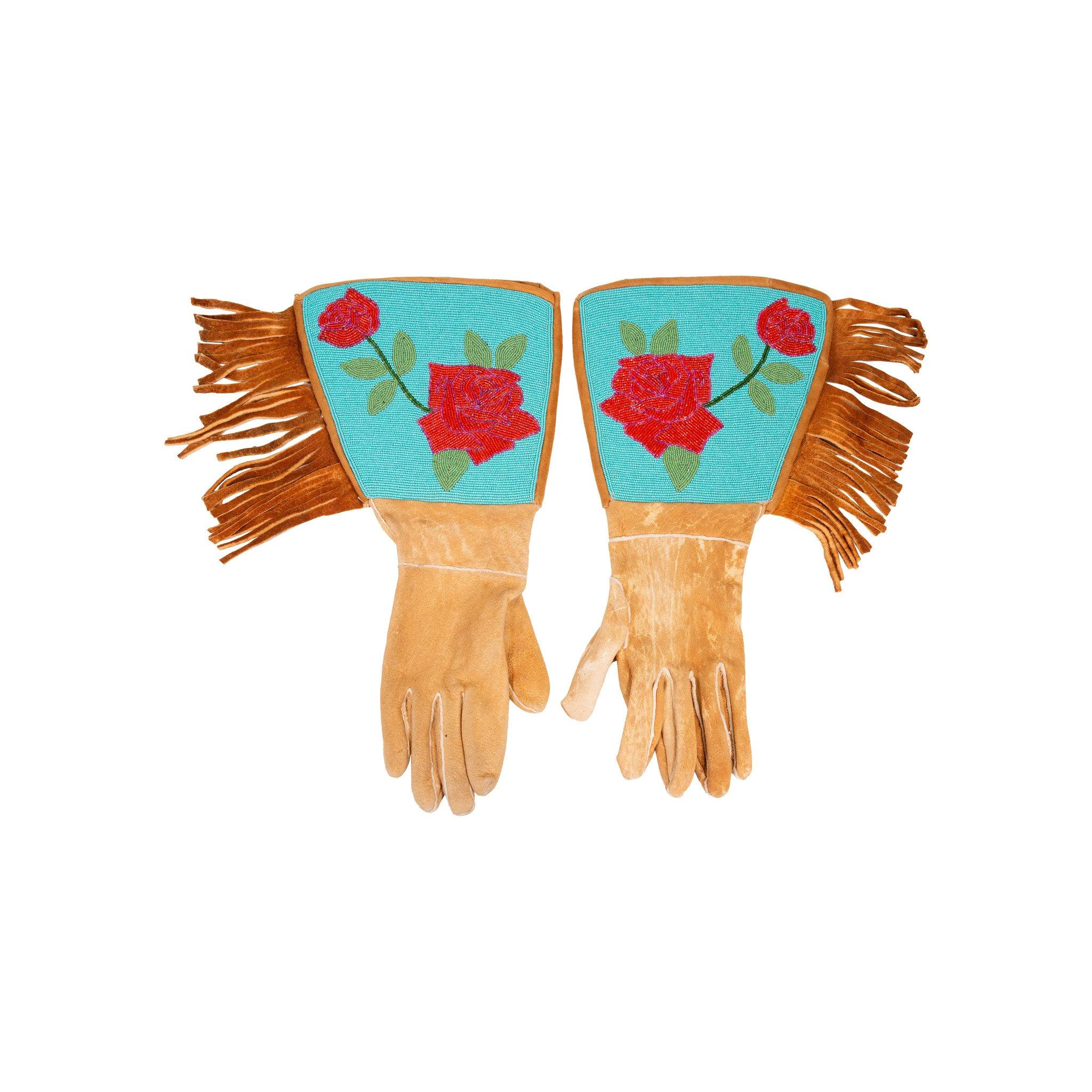 Authentic Native Nez Perce Tribe Beaded Gauntlets