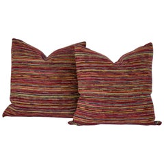 Pair of Large Woven Fabric Pillows