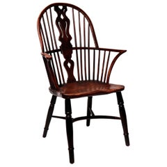 Antique English Georgian High Windsor Armchair