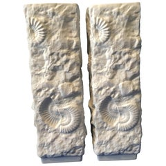 Pair of White Fossil Rock Porcelain Vases by Kaiser of Germany
