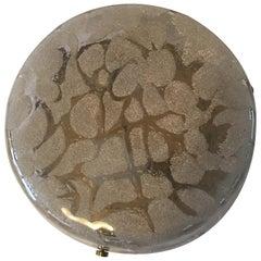 Round Murano Ice Glass Flush Mount Kaiser Leuchten