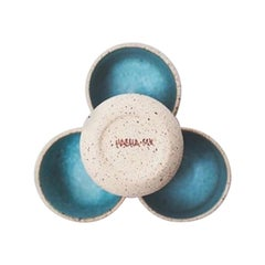 Handmade Ceramic Stoneware Bowl in Turquoise, in Stock