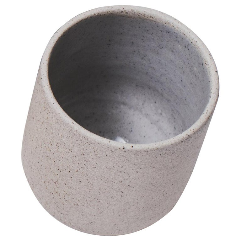 Handmade Ceramic Stoneware Cup in Grey, in Stock For Sale