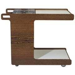 Danish Designed Wenge Chef Cart with Stove, Poolside BBQ