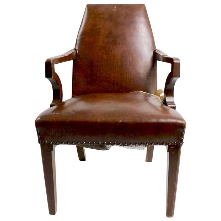 High Back Art Deco Chair For Sale