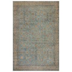Blue Antique Persian Kirman Rug