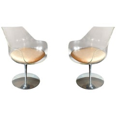 "Pair of Clear ""Champagne"" Chairs by Erwine & Estelle Laverne, USA, circa 1968"