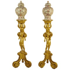 Pair of 18th Century Carved and Gilded Wood Guéridons