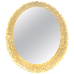 Vintage Illuminated Oval Mirror, 1960s