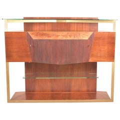 Italian Midcentury Rosewood Sideboard or Bar Cabinet by Vittorio Dassi, 1950s