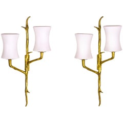 Pair of Maison Arlus Sconces, circa 1960, France