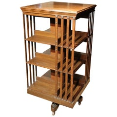 19th Century Oak Revolving Bookcase