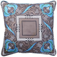 'Vintage Cushions' Luxury Bespoke Silk Pillow 'Liberty Nouveau', Made in London