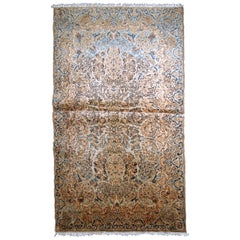 Handmade Antique Kerman Style Rug, 1920s, 1B746