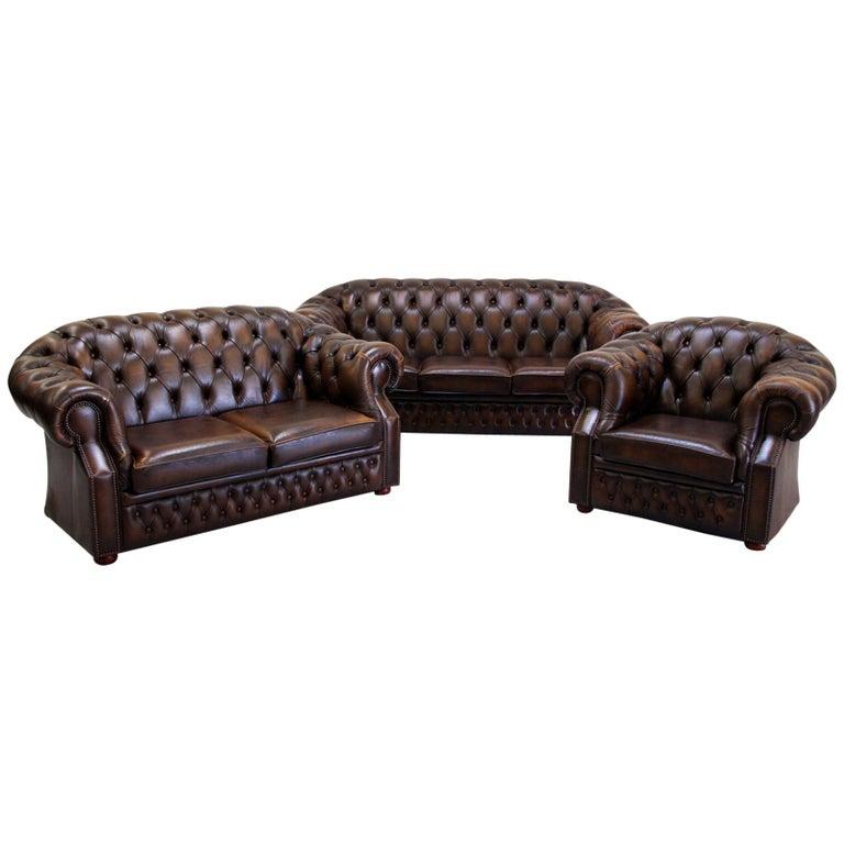 Cream Color Extra Soft Padded Leather Sofa Set