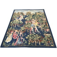 Antique Original Aubusson French Tapestry