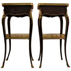 Pair of Henry Dasson Signed 1879 Side Tables