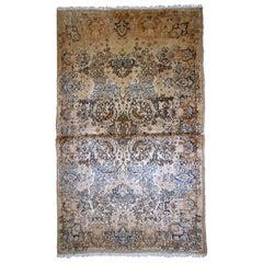 Handmade Antique Kerman Style Rug, 1920s, 1B751