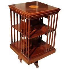 19th Century Mahogany Revolving Bookcase Maple & Co.