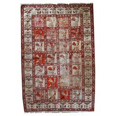 Handmade Vintage Sumak Style Rug, 1960s, 1C483