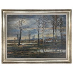 Grand Midcentury Framed Oil Painting on Canvas by Fr. De Roover